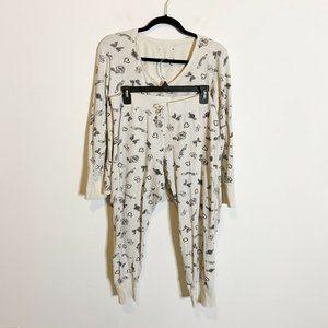 Victoria's Secret Thermal Pajama Set Henley Jogger